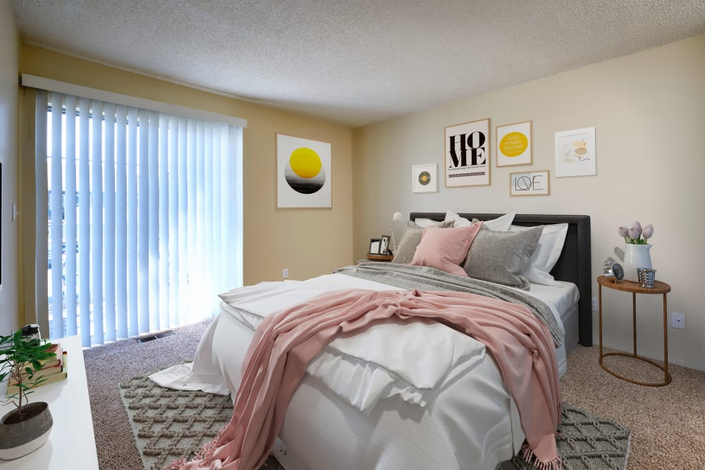 Model Bedroom at Bluesky Landing Apartments in Lakewood, Colorado