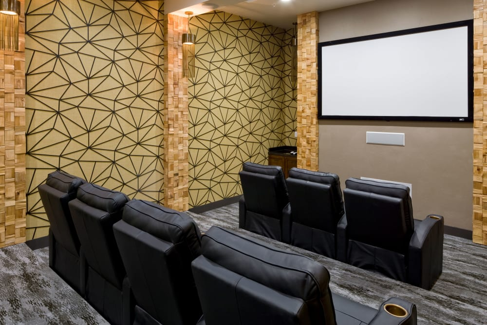 Private theater room at Olympus Alameda in Albuquerque, New Mexico
