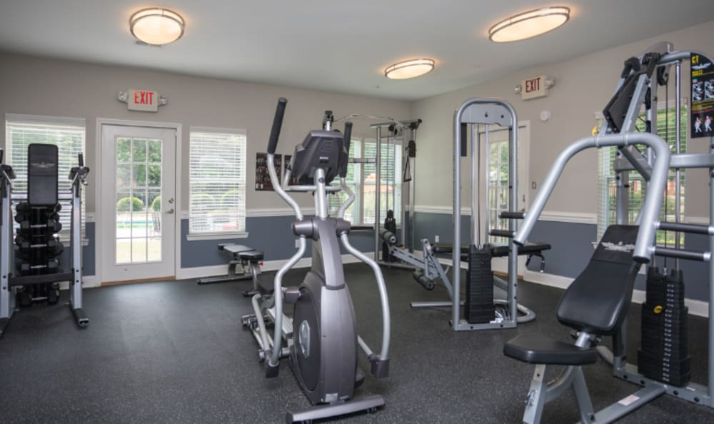 Fitness center at The Park at London in Ellenwood, Georgia