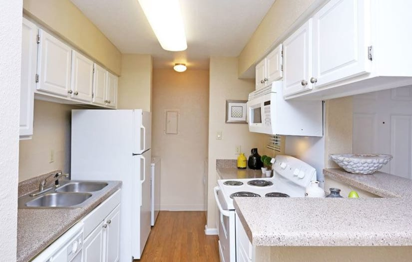 Kitchen at Promontory Point Apartments in Austin, Texas