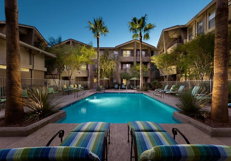 Swimming pool at McDowell Village in Scottsdale, Arizona