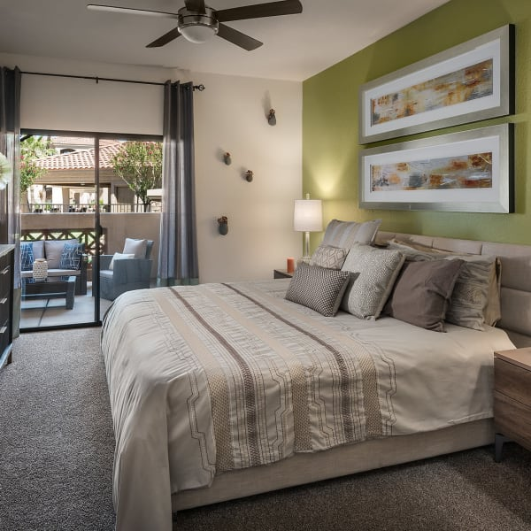 Spacious master bedroom at San Pedregal in Phoenix, Arizona