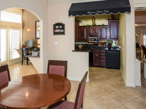 Kitchen and dining room at Monterra Pointe