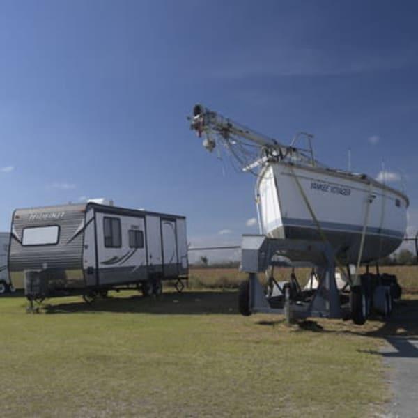RV and boat parking at StayLock Storage in Valdosta, Georgia