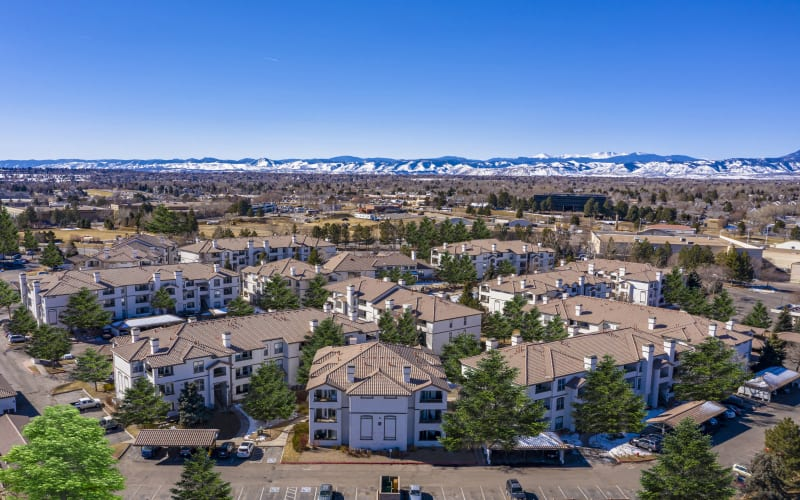An aerial view of Altitude Westminster in Westminster, Colorado