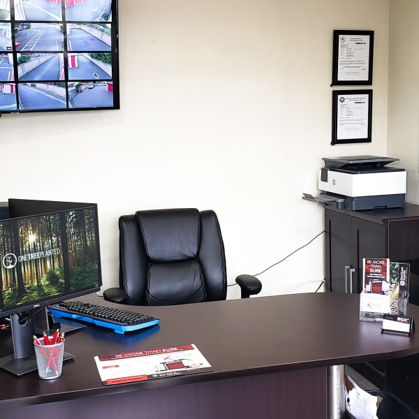 The interior of the office at StorQuest Express - Self Service Storage in Sacramento, California