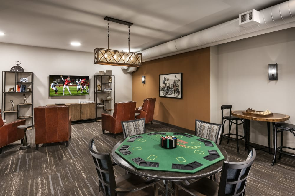 Game room at Carnegie Heights at Henderson in Henderson, Nevada
