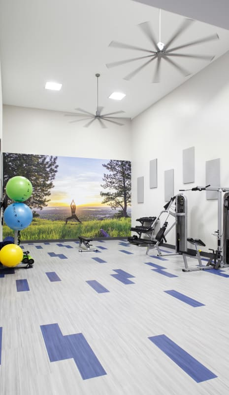 newly renovated fitness center at Park South Apartments in Seattle