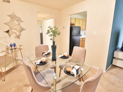 Our unique apartments offer a private balcony at Carriage Hill Apartment Homes