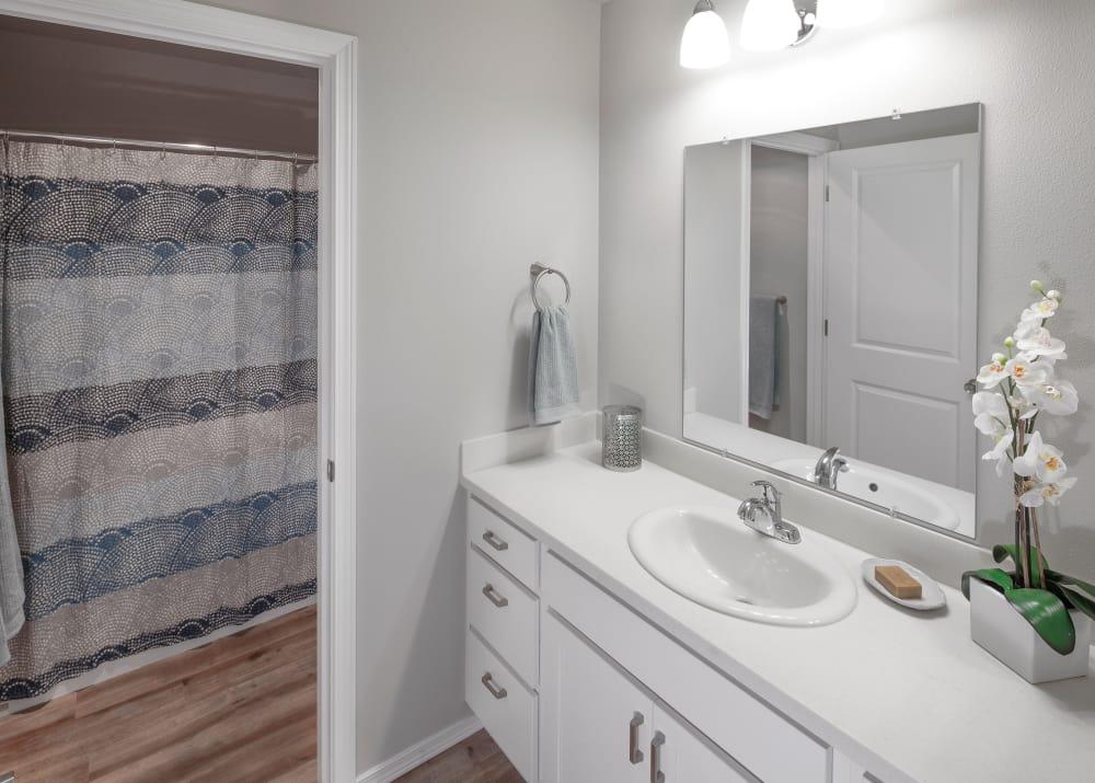 Bathroom at Bridge Creek Apartments in Vancouver,Washington