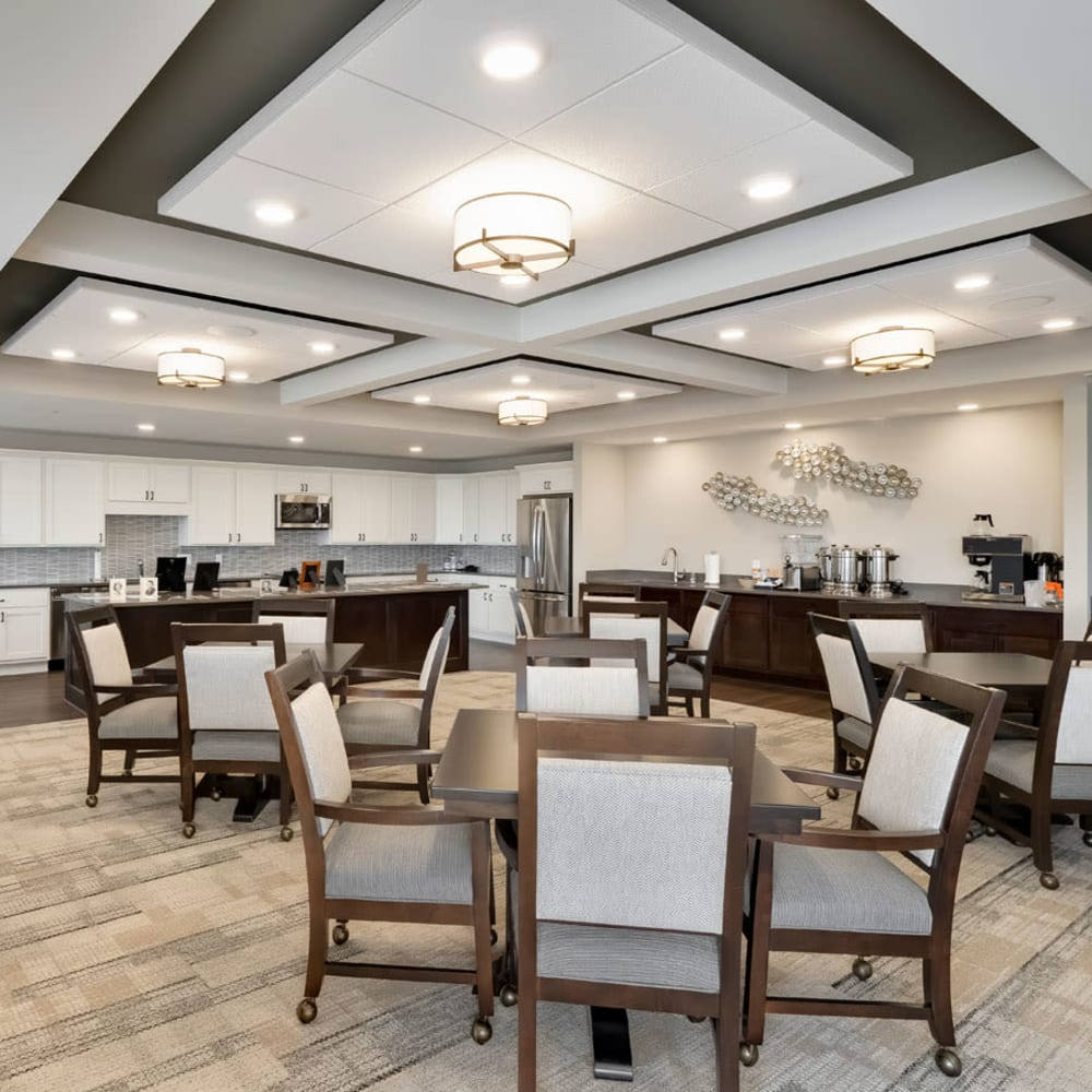 Dining room at Applewood Pointe of Westminster in Westminster, Colorado.