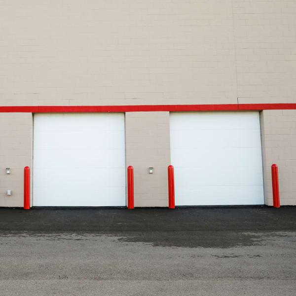 Exterior storage units at StorQuest Self Storage in Madison, Wisconsin