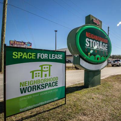 Sign at Neighborhood Storage in Ocala, FL