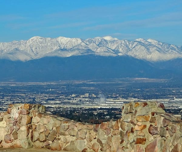 The mountains around Merrill Gardens at West Covina in West Covina, California