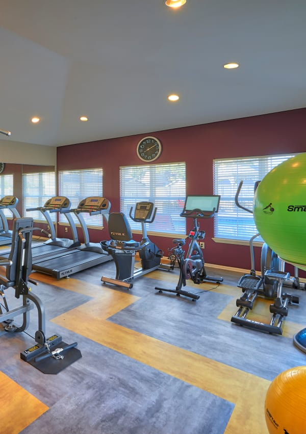 Newly renovated fitness center at Westridge Apartments in Aurora