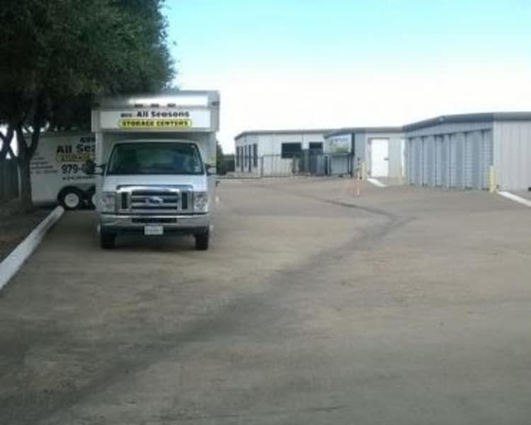 Moving truck rentals at All Seasons Storage Centers in College Station, Texas