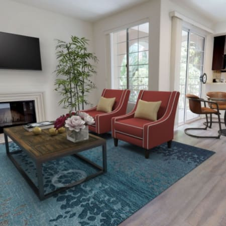 View a virtual tour of our two bedroom luxury apartments at L'Estancia in Studio City, California