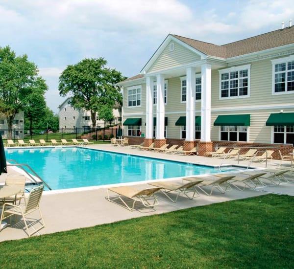 Sparkling swimming pool at Stonegate at Devon Apartments in Devon, Pennsylvania