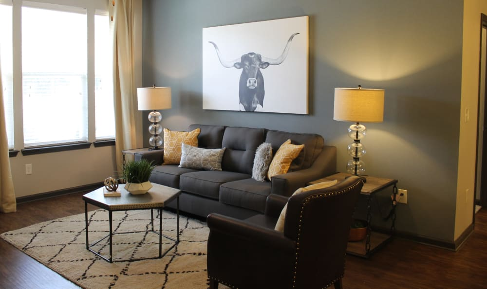 Spacious Living Room Area in Springs at Cottonwood Creek Apartments