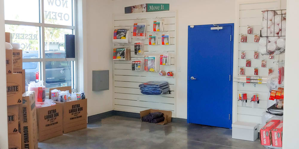 Packing supplies available at StorQuest Self Storage in North Miami Beach, Florida