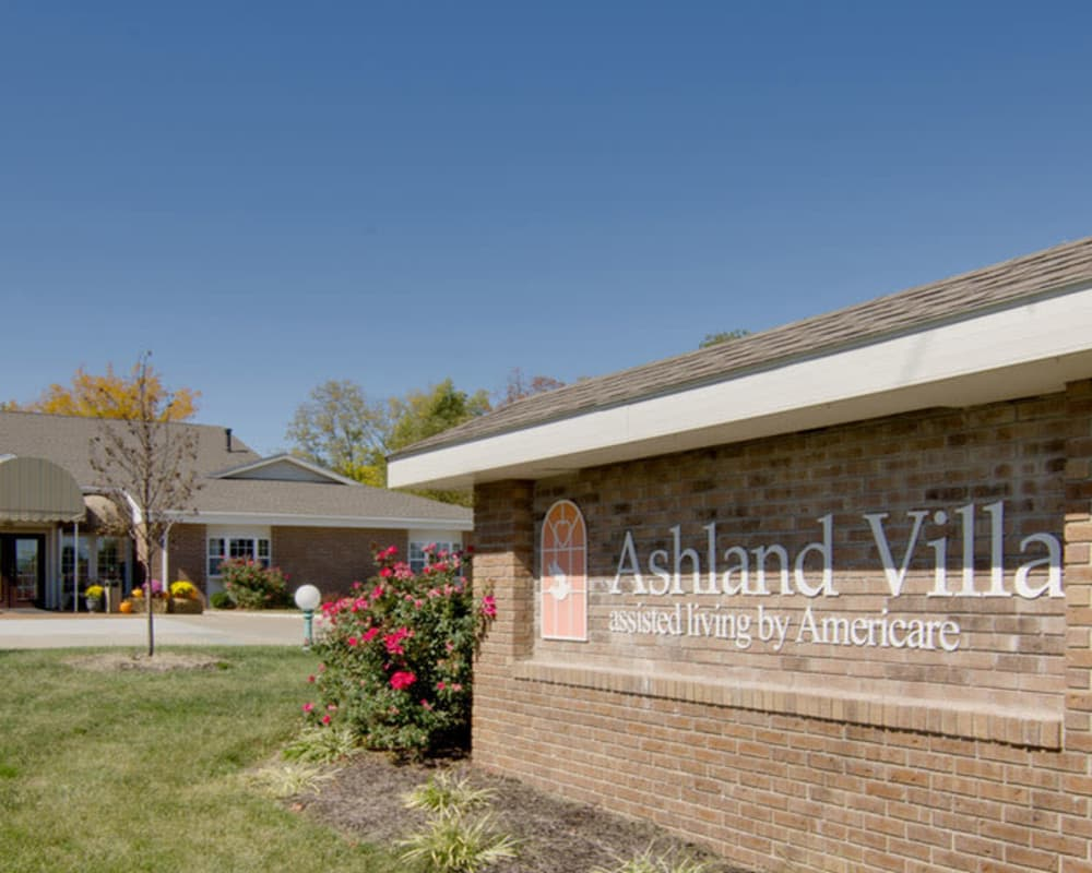 Main sign at Ashland Villa in Ashland, Missouri