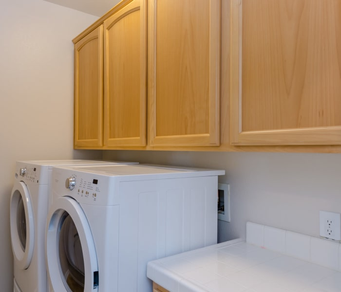 In-unit washer and dryer at IMT Rancho Serrano Townhomes in Thousand Oaks, CA