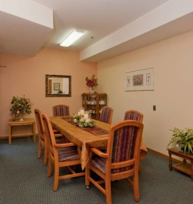 Dining Room at Mountain Meadows Senior Living Campus in Leavenworth, Washington.
