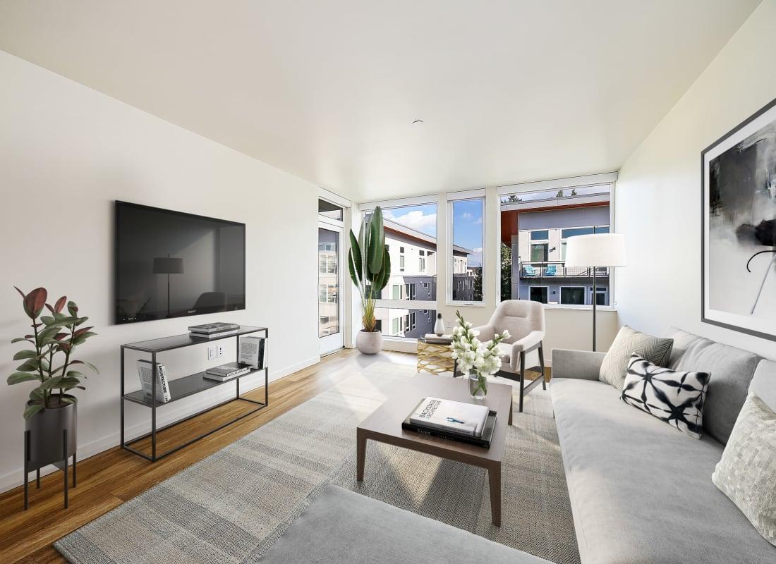 Spacious living room at Blackbird