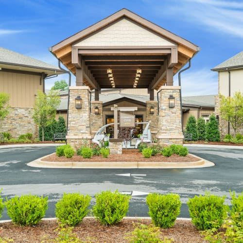 Outside rendering of building at Celebration Village Forsyth in Suwanee, Georgia