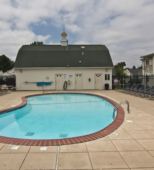 Pool at Steeplechase Apartments & Townhomes in Toledo, OH