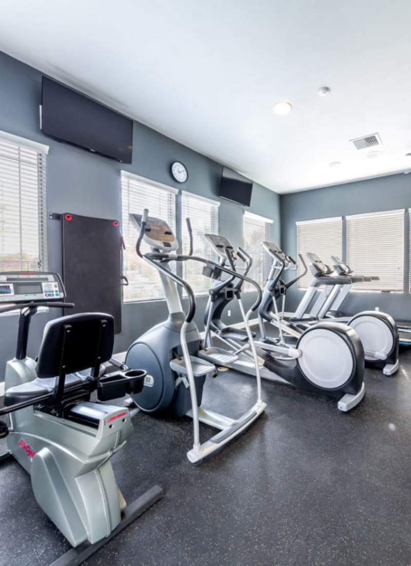 Treadmills and stationary bikes at The Fairmont at Willow Creek in Folsom, California