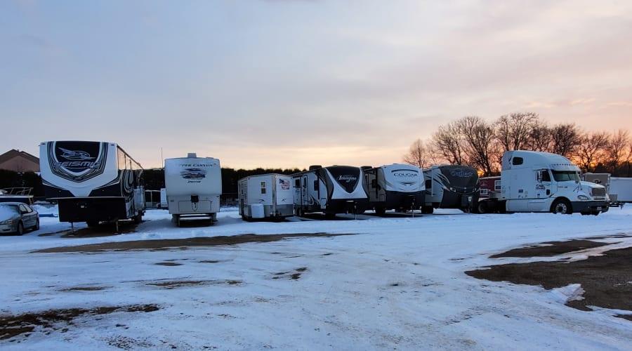 RV and automobile parking at KO Storage of Willmar in Willmar, Minnesota