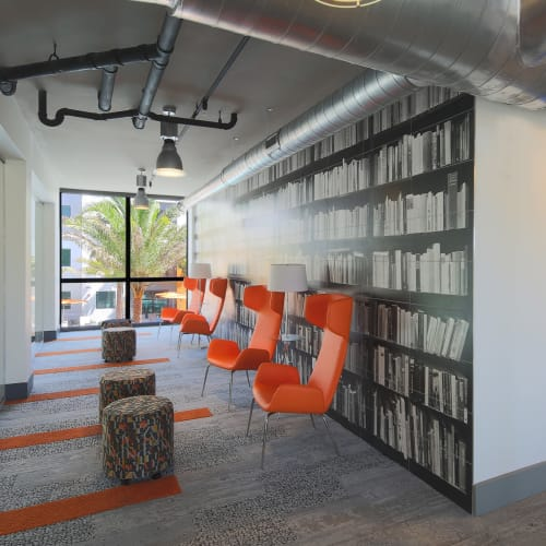 Study lounge area for students at University Park in Boca Raton, Florida