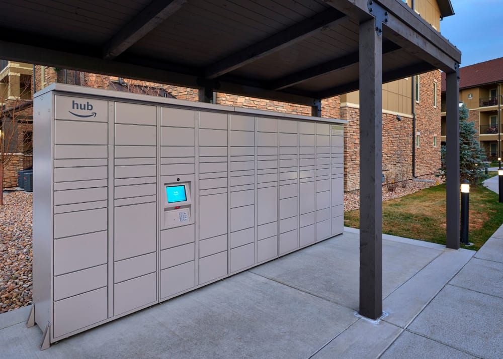 Package Lockers at M2 Apartments in Denver,CO