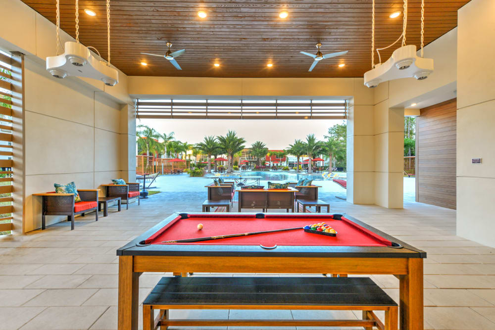 Pool Table at Luxor Club in Jacksonville, Florida
