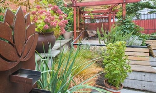 The garden at Nikkei Manor in Seattle, Washington