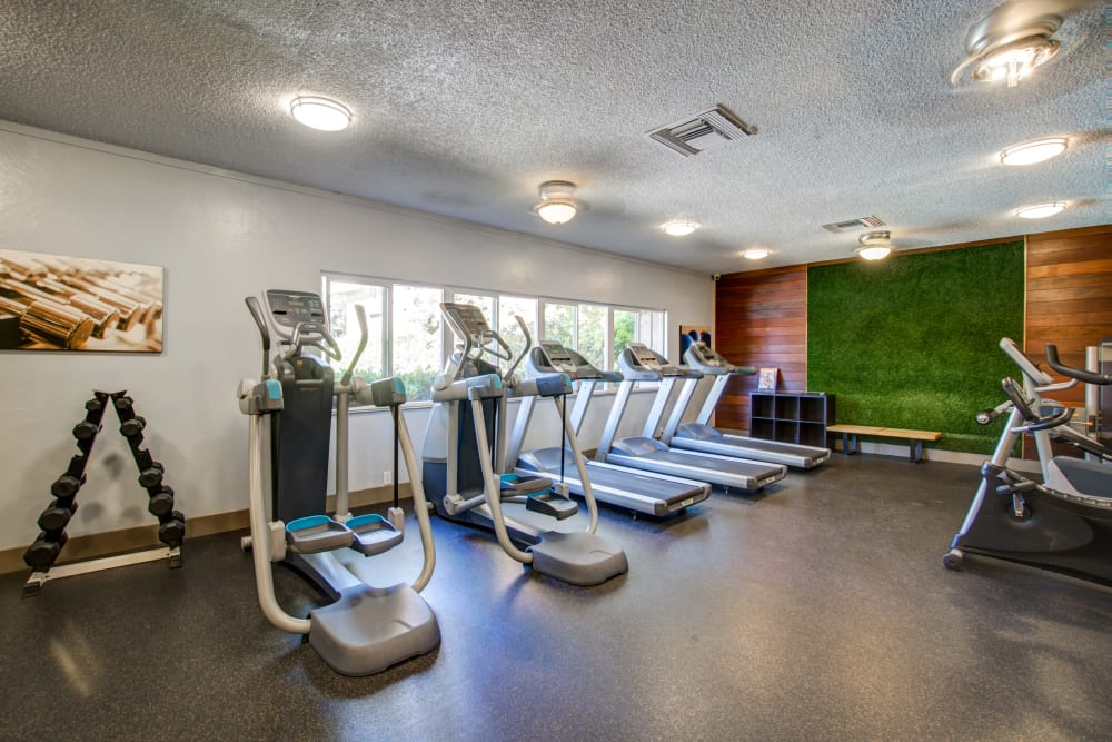 State-of-the-art fitness center at apartments in Fremont, California