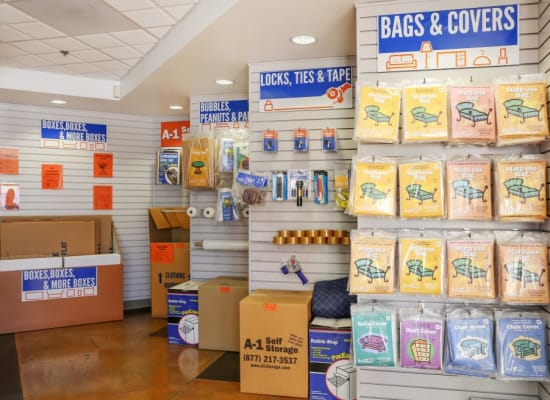 Packing and moving supplies available at A-1 Self Storage in North Hollywood, California