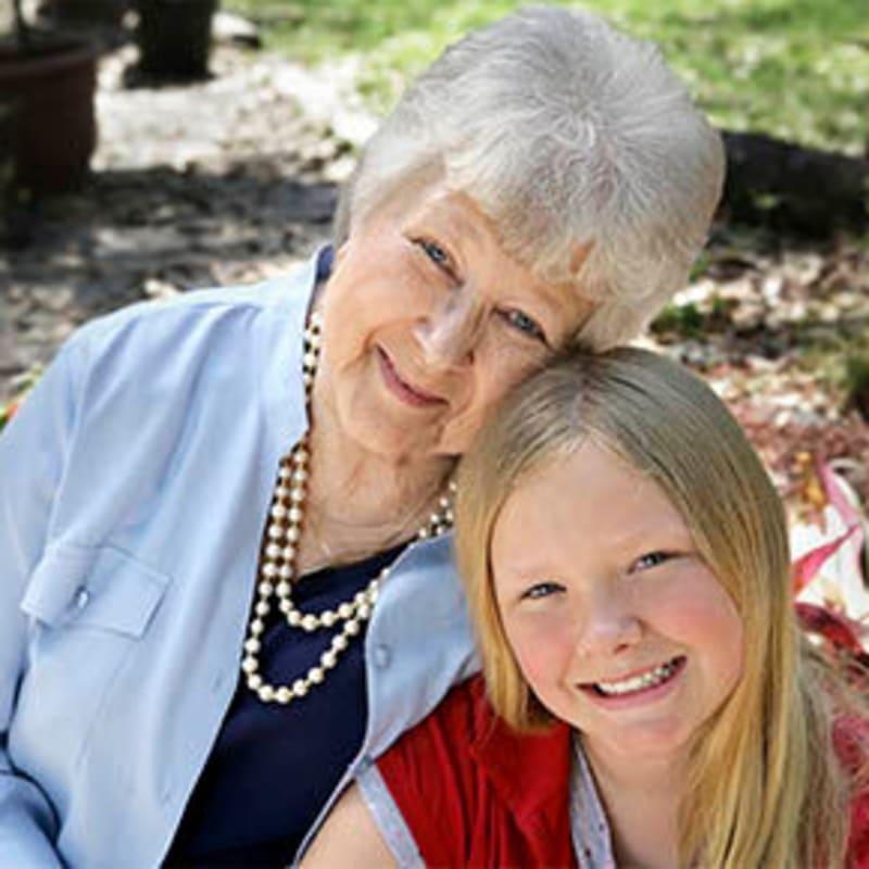 Grandmother and Granddaughter at Peninsula Reflections in Colma, California