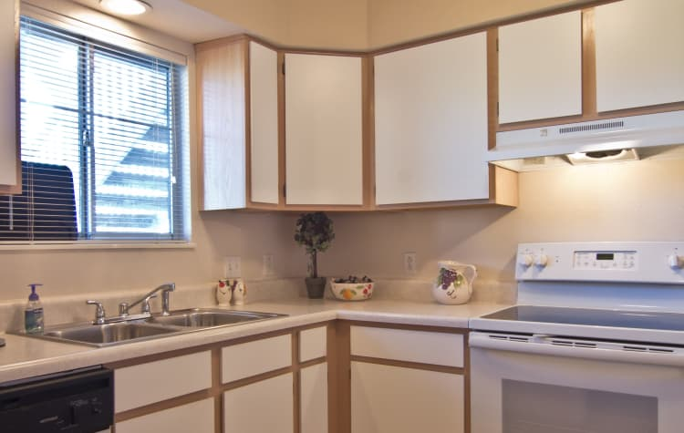 Plenty of storage in your kitchen at Steeplechase Apartments & Townhomes in Toledo, OH