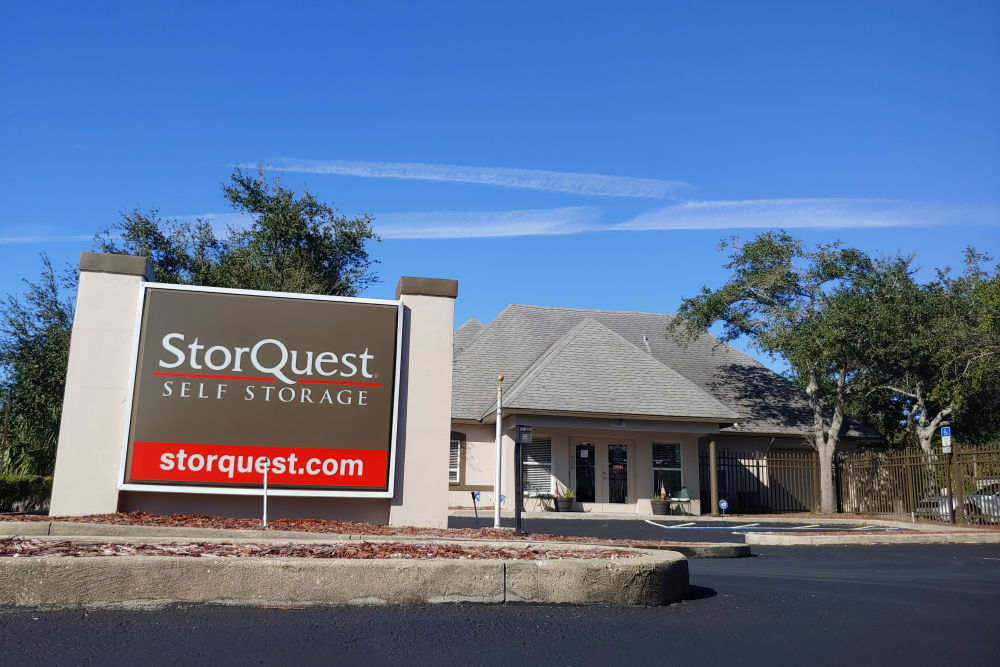 Drive-up access at StorQuest Self Storage in Clearwater, Florida