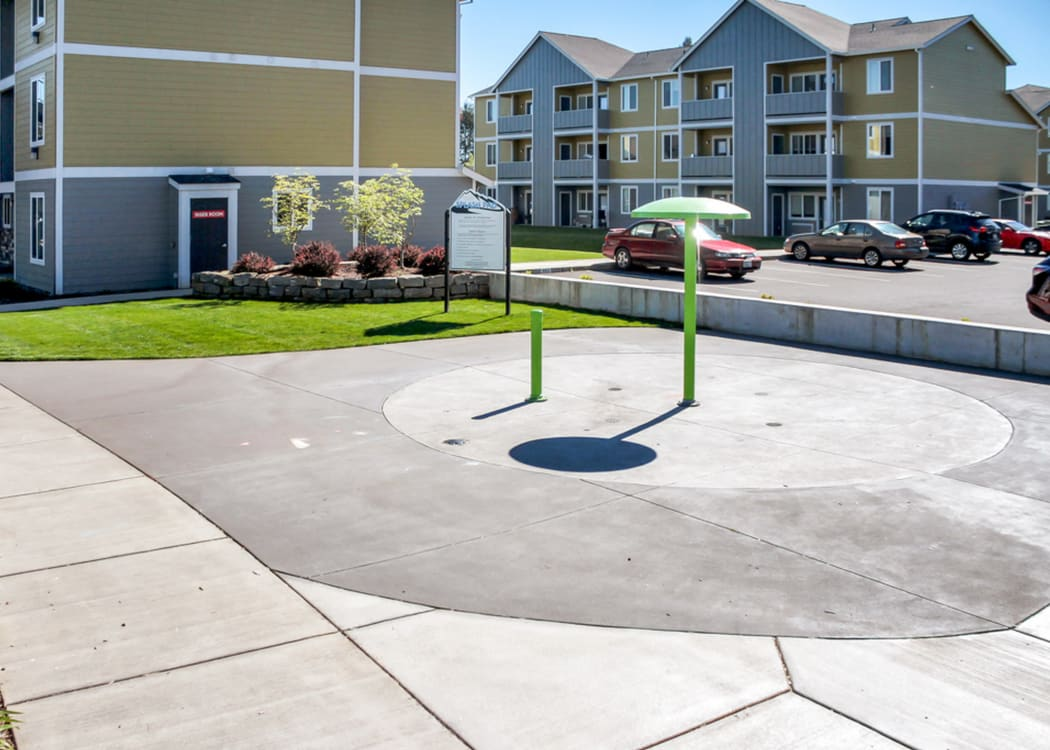 Play area at Rock Creek Commons in Vancouver, Washington