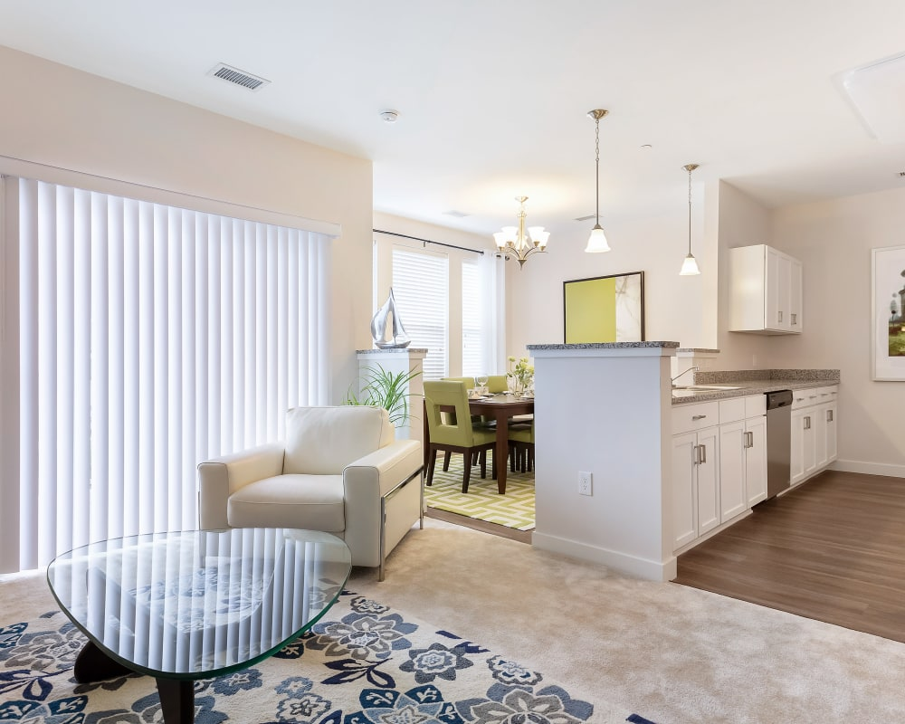 Open concept floor plans at The Sound at Gateway Commons in East Lyme, Connecticut