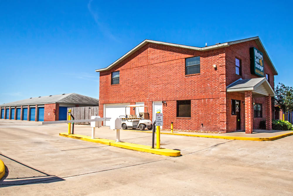 Access gate at Metro Self Storage in La Marque, Texas