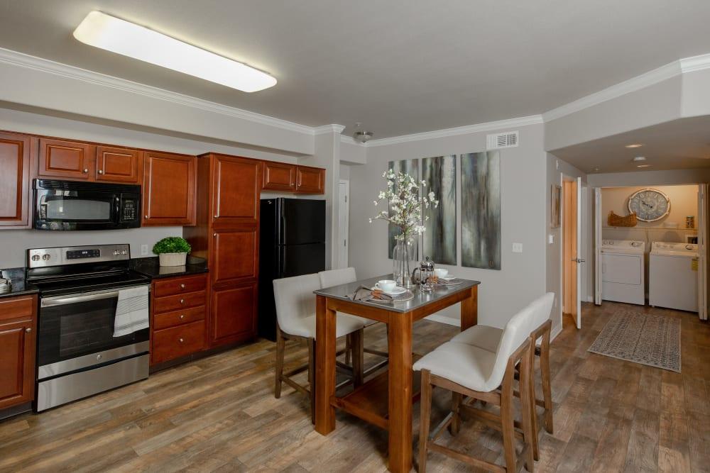 Spacious kitchen and dining room at Wolf Ranch Condominium Rentals in Sacramento, California