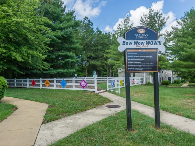 Dog Park at St. Mary's Landing Apartments & Townhomes