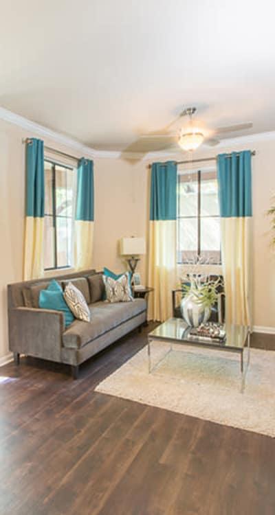Beautiful living room at Links at Westridge in Valencia, California