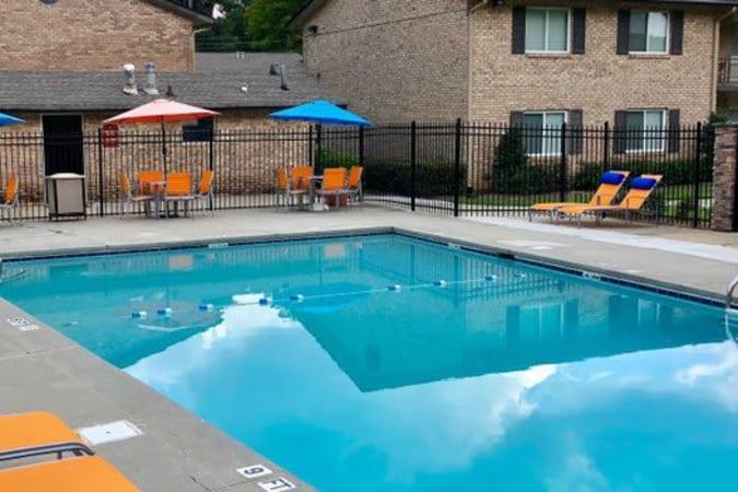 Poolside at Lexington Park Apartments in Smyrna, Georgia