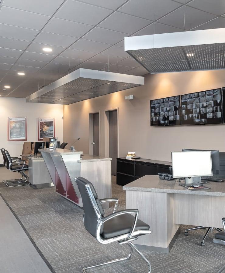 Interior of the leasing office at StorQuest Self Storage in La Mesa, California