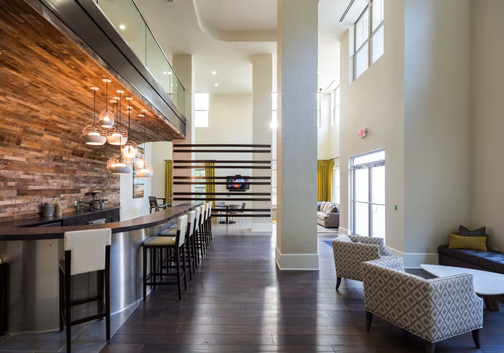 Interior of the luxury One Metrocenter's clubhouse in Nashville, Tennessee
